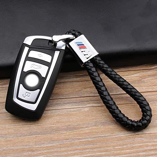 M Series Motorsport Black Weave Keychain for BMW