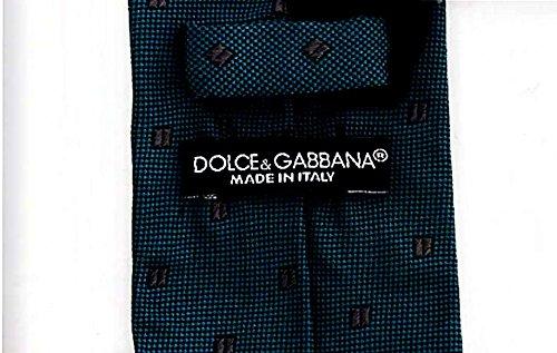 Dolce & Gabbana - Corbata de seda, diseño de lunares, color azul ...