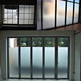 Sugo 2FT x 100FT Premium Frosted Film Home Privacy Bedroom Bathroom DIY Window Tint Glass Sheet Static Cling