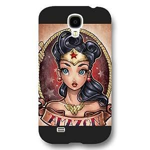 UniqueBox Wonder Women Custom Phone Case for Samsung Galaxy S4, DC comics Wonder Women Customized Samsung Galaxy S4 Case, Only Fit for Samsung Galaxy S4 (Black Frosted Shell) hjbrhga1544