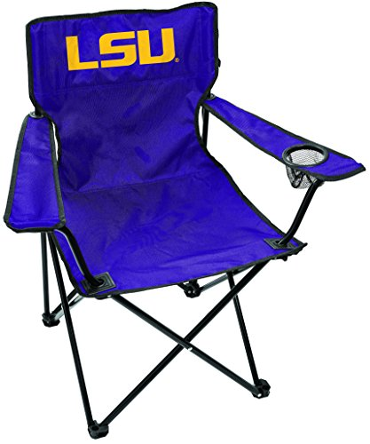 Rawlings NCAA Gameday Elite Lightweight Folding Tailgating Chair, with Carrying Case, Louisiana State - Tailgate Chair Lsu Tigers