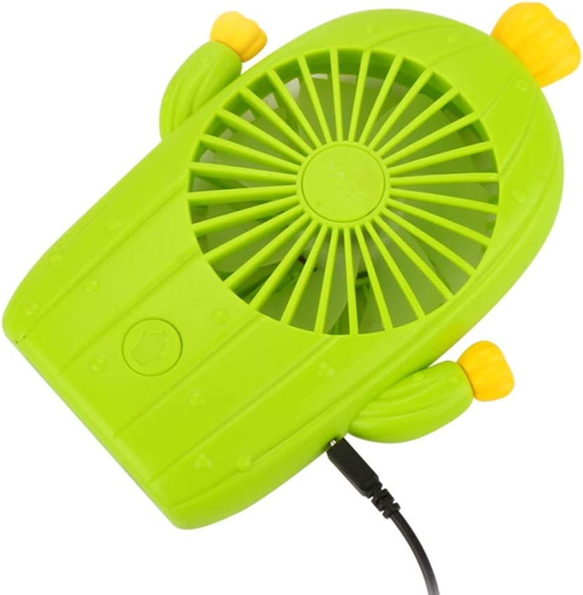 Leafless Fan Mini Air Conditioner Very Silent Silent USB Charging and Cooling Table Fan Tingting Fan Color : YellowA, Size : 10.5316.5