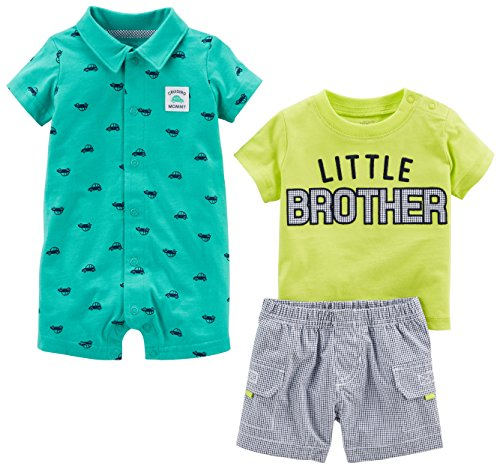 - Simple Joys by Carter's Baby Boys' 3-Piece Playwear Set, Green Little Brother, 18 Months