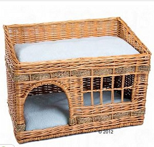 Woven-2-Floor-Indoor-Cat-Den-This-Home-For-Your-Cats-Comes-Complete-With-Two-Cushions-Is-The-Perfect-Sleeping-and-Resting-Bed