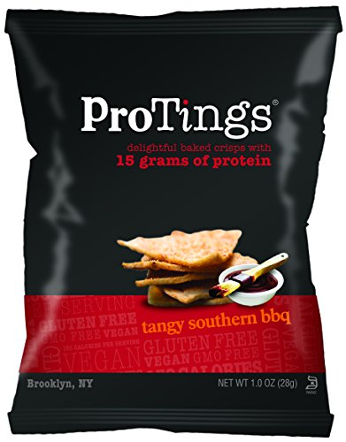 ProTings Protein Chips, Tangy Southern BBQ, 1.00 Ounce (Pack of 24)