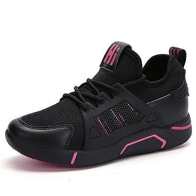 98f7bc8ef269 Damen Sportschuhe Plateau Sneaker Training Laufschuhe Erhöhen Running  Turnschuhe Fitness Freizeitschuhe Schnüren Schuhe Atmungsaktiv Dicke Sohle