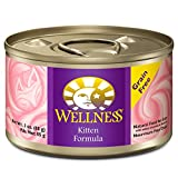 Wellness Natural Grain Free Wet Canned Cat Food, Kitten,...