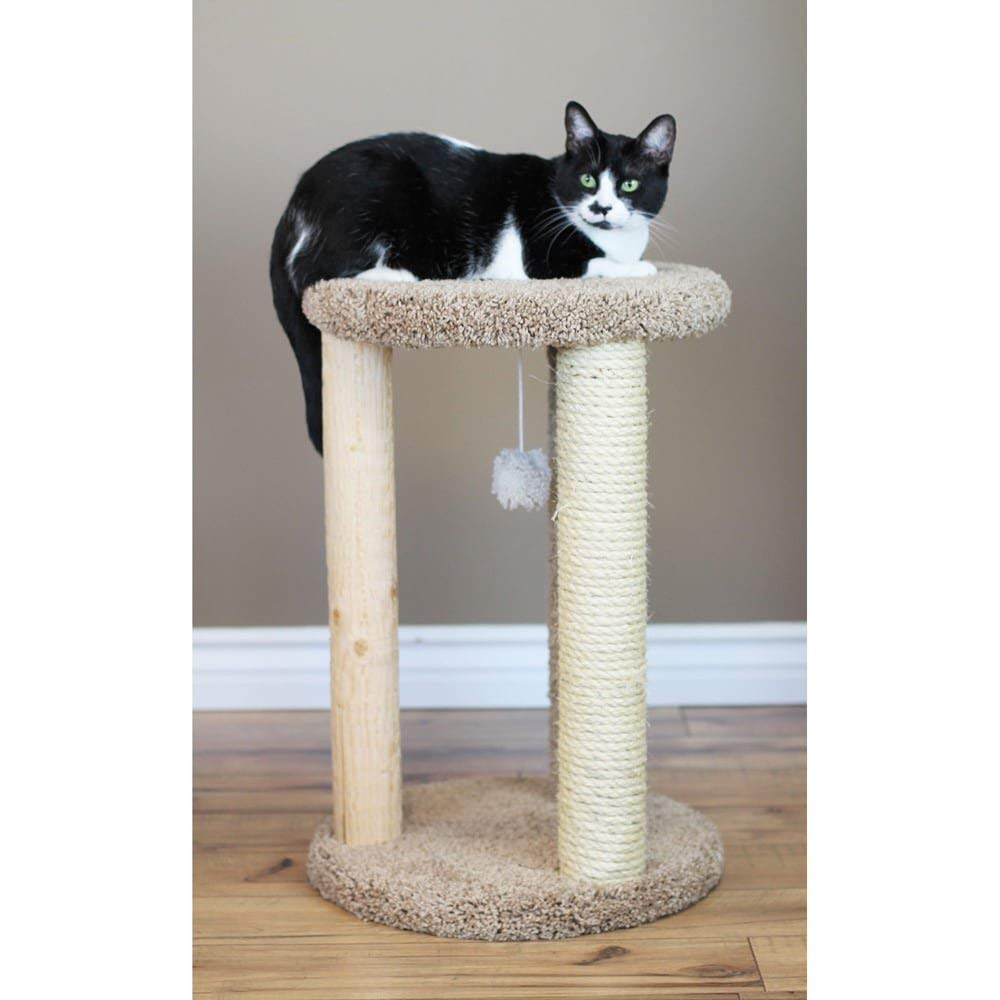 New Cat Condos Premier Round Multi Scratcher, Brown by New Cat Condos