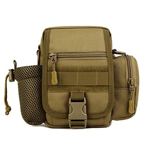 cinmaul Tactical riñonera Militar bolsa de deporte pack mochila para Camping senderismo trekking, hombre, negro Marrón (Coyote Brown)