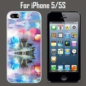 Fantasy Planet Castle Custom Case/ Cover/Skin *NEW* Case for Apple iPhone 5/5S - White - Rubber Case (Ships from CA) Custom Protective Case , Design Case-ATT Verizon T-mobile Sprint ,Friendly Packaging - Slim Case hjbrhga1544