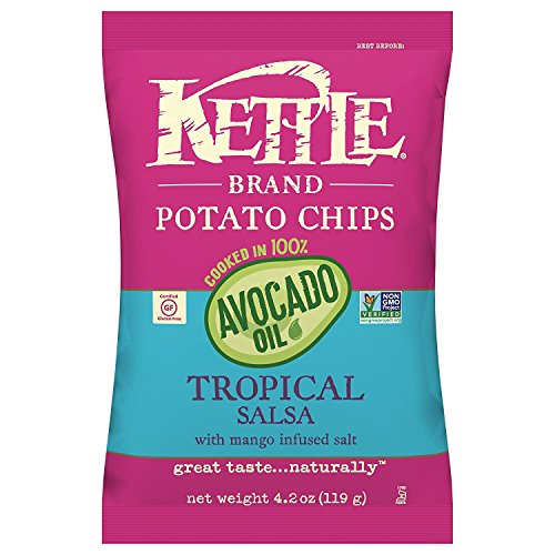 Chips, 100% Avocado Oil Tropical Salsa with Mango, 4.2 Ounce ()