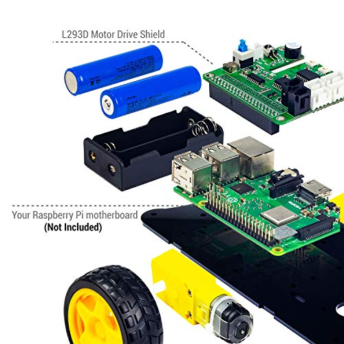 UCTRONICS Robot Car Kit for Raspberry Pi - Real Time Image and Video, Line Tracking, Obstacle Avoidance with Camera Module, Line Follower, Ultrasonic Sensor and App Control by UCTRONICS (Image #7)