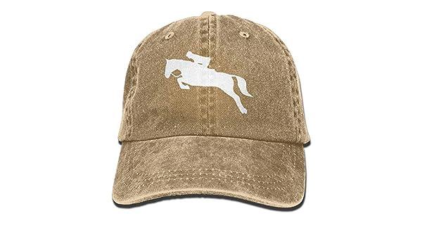 KKAIYA Unisex Horseback Riding Horse Clipart-1 Vintage Jeans Baseball Cap Classic Cotton Dad Hat Adjustable Plain Cap