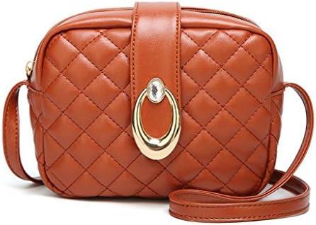 女性のチェック柄のバッグファッショントレンドメッセンジャーショルダーバッグ無料の財布 (Color : Yellow)