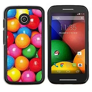 LECELL--Funda protectora / Cubierta / Piel For Motorola Moto E -- caramelo colorido patrón de color rosa reflexivo --