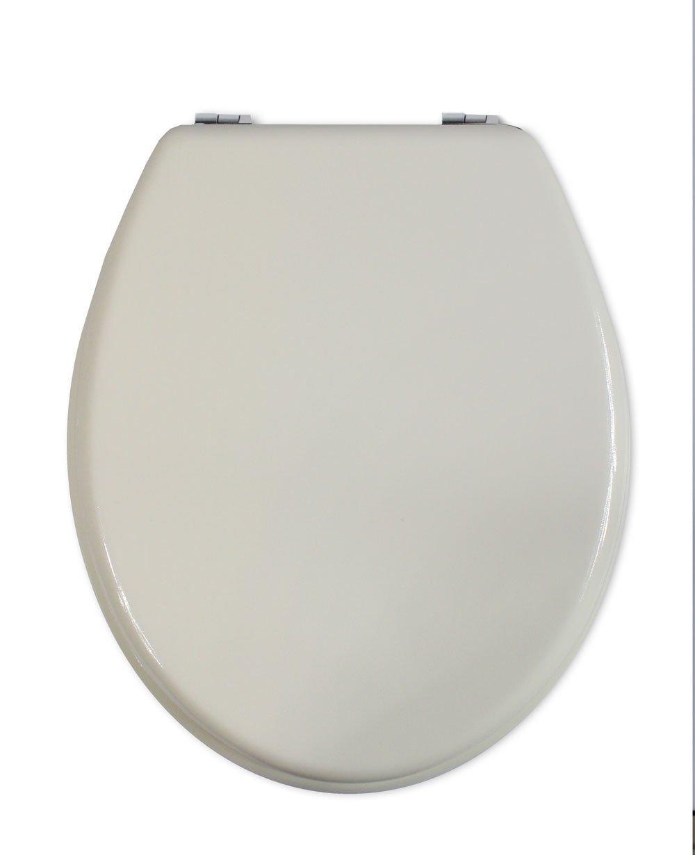 Vetrineinrete Copriwater universale in legno MDF tavoletta da bagno wc con cerniere in acciaio inox resistente (Avorio) P86 Vetrine in rete