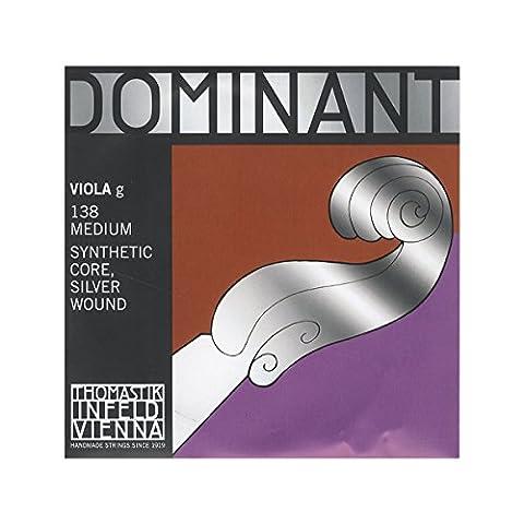 Thomastik-Infeld 138 Dominant Nylon Core Viola String, Medium Gauge, 4/4 Scale, G (Dominant Viola A String)
