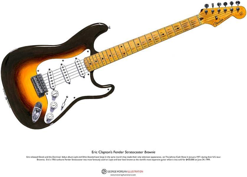George Morgan Illustration Cartel de Arte A3 Fender Stratocaster ...