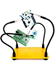 KOTTO Helping Hands Soldering, Third Hand Soldering Tool PCB Holder Four Arms Helping Hands Crafts Jewelry Hobby Workshop Helping Station Non-Slip Steel Weighted Base