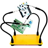 Fstop Labs Helping Hands Soldering, Third Hand Soldering Tool PCB Holder Four Arms Helping Hands Crafts Jewelry Hobby Workshop Helping Station Non-Slip Steel Weighted Base