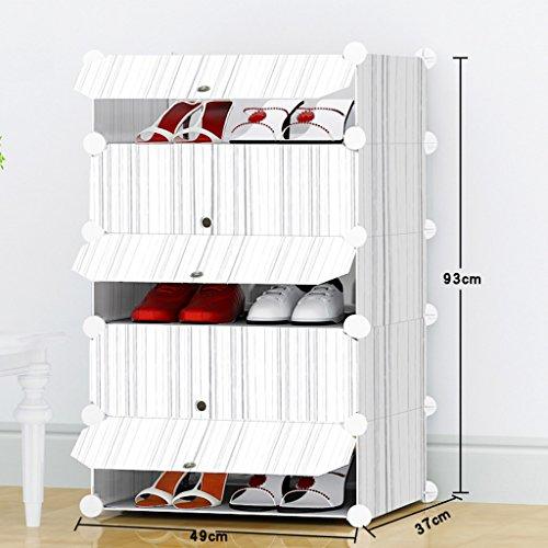 YANW-SHELF SENBUN Plástico Resina Simple y Económico Multi-Funcional Multi-Capa Montaje Rack de Calzado Gabinete de...
