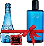 CoolWater Gift Basket includes Cool Water by Davidoff for Women 100ml & Cool water By Davidoff for Men 125ml