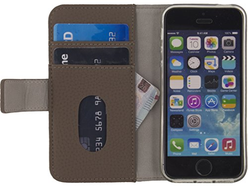 Mobilize SE Classic Gelly Wallet Book Case Apple iPhone 5/5S/SE Taupe