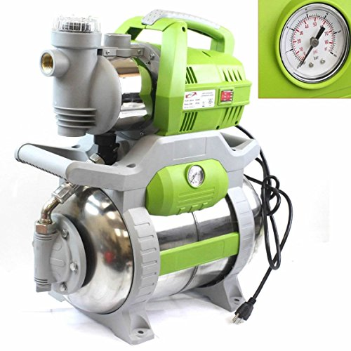 1 Hp Shallow Jet Booster Water Pump W/ Stainless Pressure (Jet Booster)