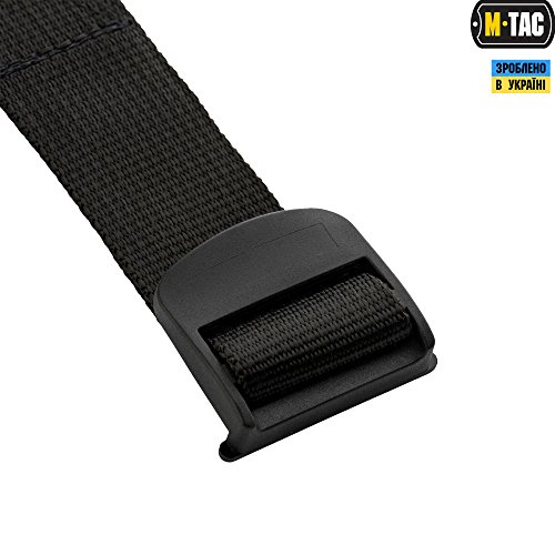Mens Belt - Outdoor Travel Tactical Military style - Nylon web - Plastic bucke (Black, Large/X-Large) by М-Tac (Image #3)