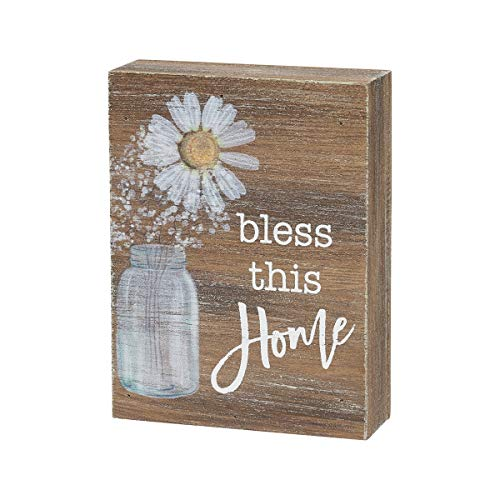 Collins Painting Inspirational Wood Grain Mini Block Sign, 4