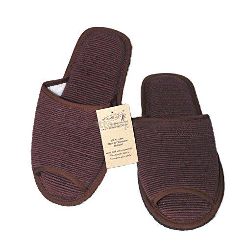 Pantofola Di Cotone Intrecciata Stile Thai (xl (11,5 Lunghezza), Rosa-marrone) Marrone Scuro