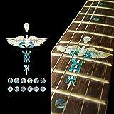 Fretboard Markers Inlay Sticker Decals for Guitar - Caduceus Set
