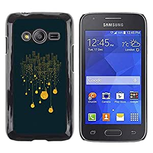 Stuss Case / Funda Carcasa protectora - City Lights Light Bulb Electricity Night Big - Samsung Galaxy Ace 4 G313 SM-G313F