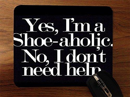 Funny Shopper Shoe-aholic Shoes Desktop Office Silicone Mouse Pad by Debbie's Designs