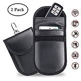 Car Key Signal Blocker Pouch, 2 Pack Car Keyless Entry Fob Signal Blocking Case Credit Card Protector Bag RFID/WiFi/GSM/LTE/NFC Blocker
