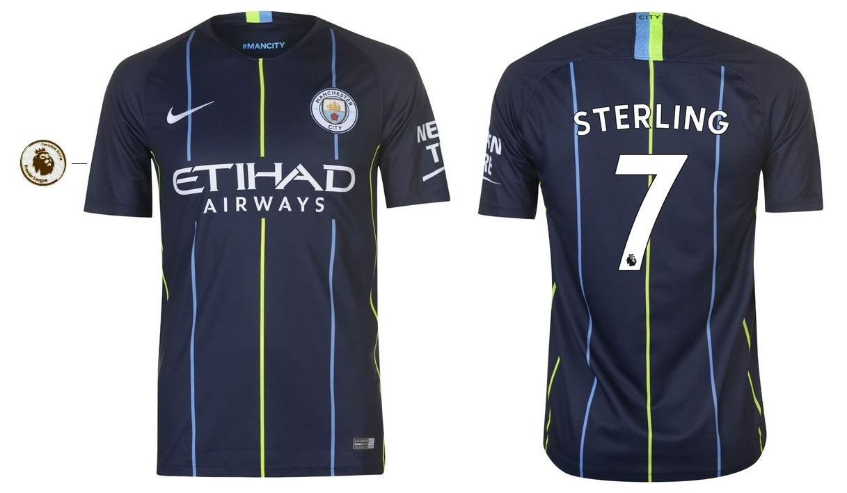 Manchester City City City F.C. Trikot Kinder 2018-2019 Away PL - Sterling 7 a2e374
