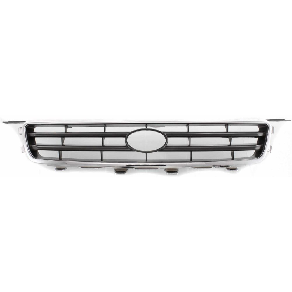 Evan-Fischer EVA17772052300 Grille for Toyota Camry 00-01 Chrome Shell/Painted-Silver Black Insert