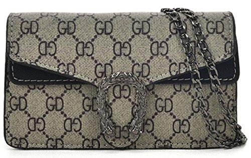 Chain Designer Bag Evening Evening Designer Shoulder Bag Inspired Black Compact Ladies Cross Shoulder Bag Clasp Monogram Inspired Mini Strap Gossip Girl With Snake Body Uwv6f5