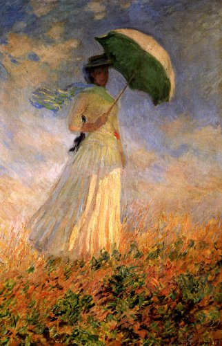 Amazon Com Woman With Umbrella Turned To The Right Attempt At