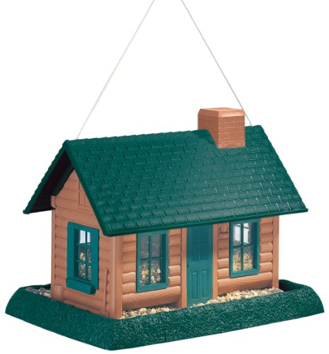 North States Village Collection Grand Style Birdfeeder-Large Log - Feeder Birdhouse
