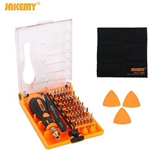 Jakemy Screwdriver Set, Professional Repair Tool Kit, All in One with 36 Magnetic Driver Bits Screwdriver Kit, Opening Tool and Tweezer for iphone X / 8 / 7, Plus, Cell Phone, Macbook, Laptop, PC