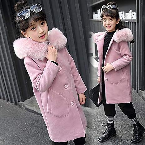Clothing Girls Autumn Winter Korean Tide Childrens Long Woolen Coat Autumn
