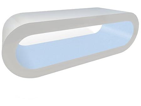 Zespoke Design Soporte Blanco y Azul Bebé Café Aro de Mesa/TV en ...