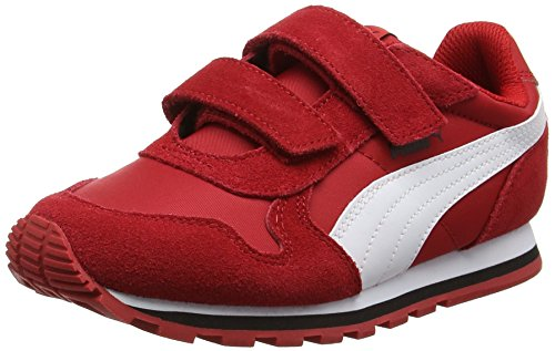 Puma St Runner Nl V Ps, Zapatillas Unisex Niños Rojo (Barbados Cherry-puma White 15)