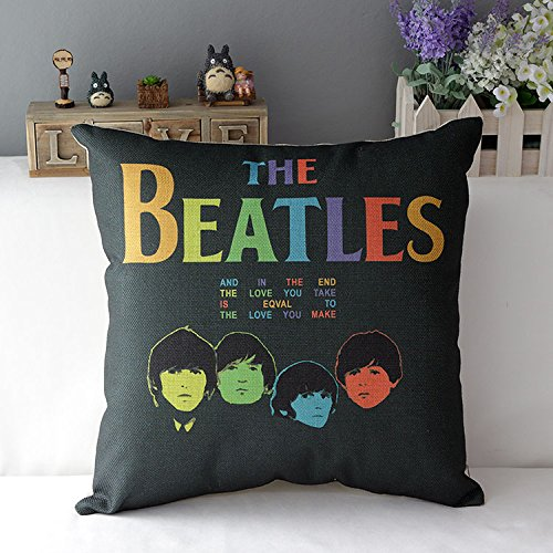 Apexshell (TM) The colorful Beatles Cotton Linen Square Decorative Throw Pillow Cover Cushion Case 18