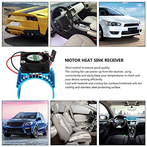 Revolver Durable Brushless Heatsink Radiator And Fan Cooling Aluminum 550 540 3650 Size Sink Cover Electric Engine For RC HSP Model D:
