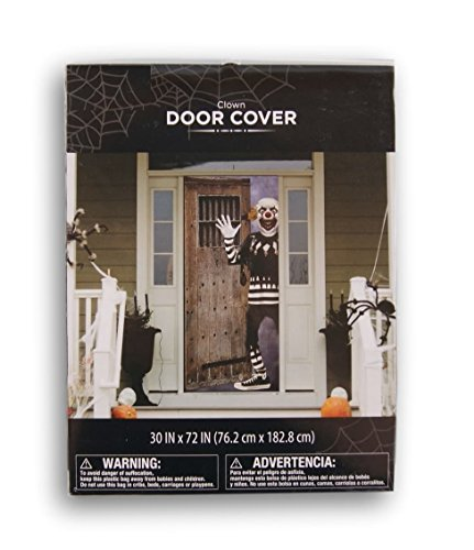 Halloween Scary Clown Door Cover - 30 x 72