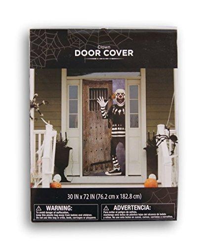 Halloween Scary Clown Door Cover - 30 x (Halloween Themed Door Decorations)