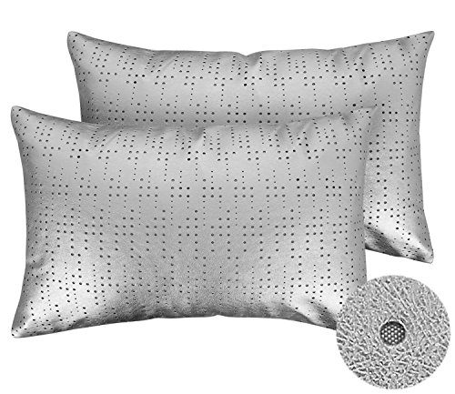Deconovo Pillow Covers Decorative 18 x 12 Dot Performated Ho