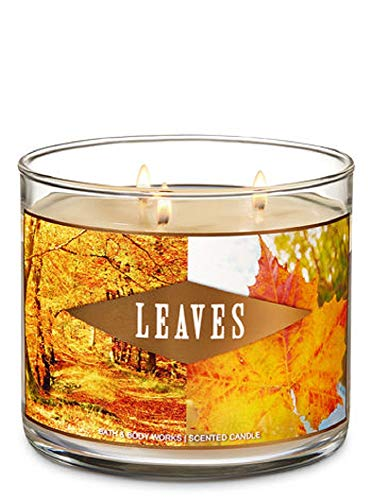 leaves 3 wick scented candle